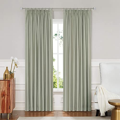 Central Park Sage Green 100 Blackout Window Curtain Pinch Pleat - the best window curtain panel for the money
