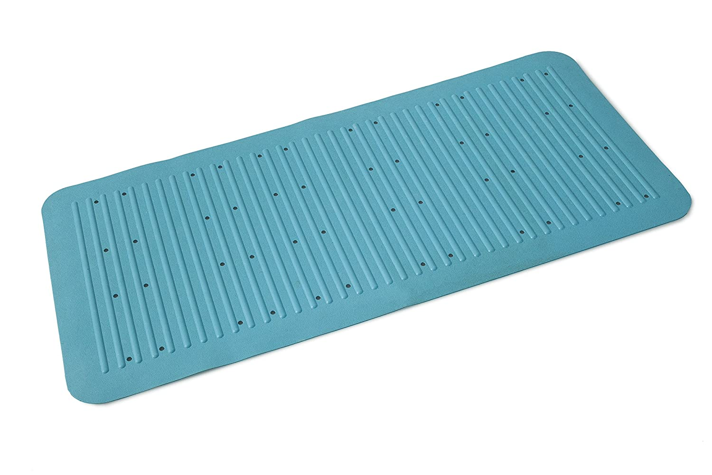 Thick 75 X 35Cm Long Extra Grip Rubber Suction Anti Non Slip Bath Shower Mat Blue //Turquoise