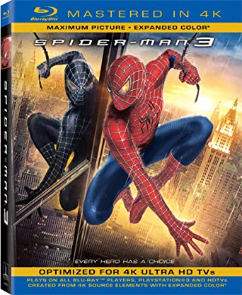 amazon com spider man 3 mastered in 4k blu ray topher grace