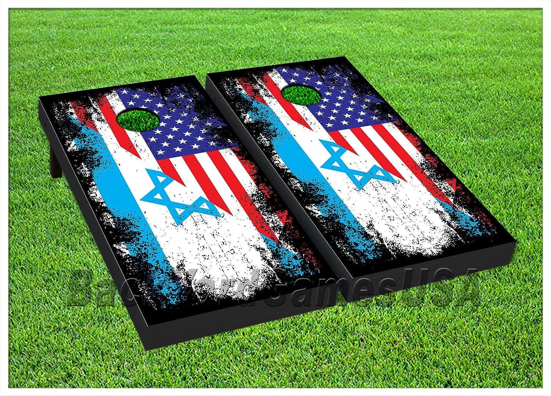 【超新作】 ビニールラップCornholeボードデカールUSA// Jewish Flag Bag Toss Bag Toss Gameステッカー437 B0797B2B83, 堀金村:701a7076 --- a0267596.xsph.ru