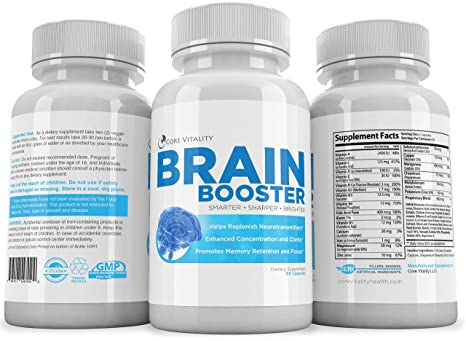 Buy Core Vitality Brain Booster Nootropic For Improved Memory 60