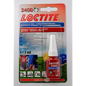 LOCTITE 1960969 2400 Strength Thread Locker, 5 ml, Medium