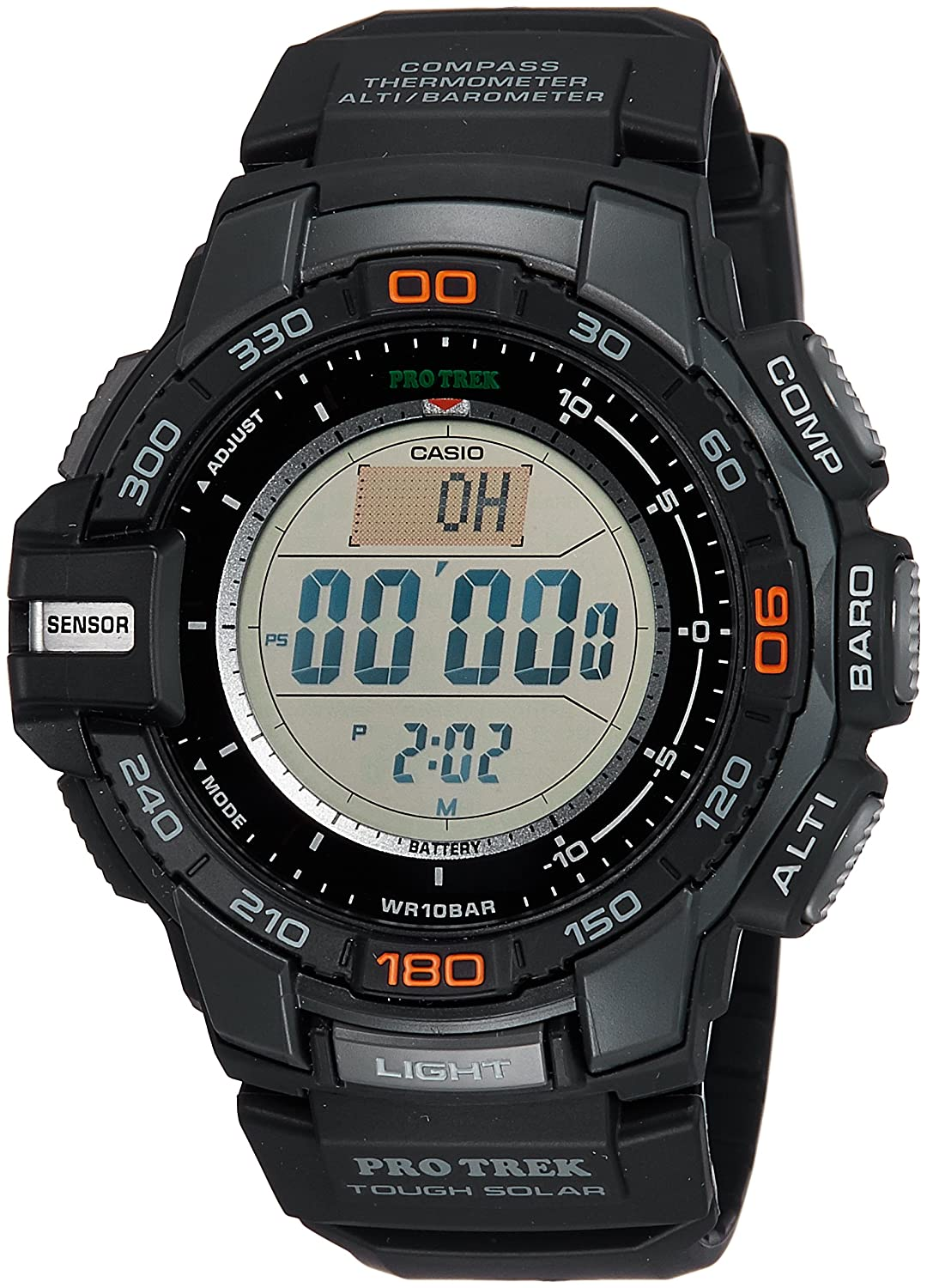 1ce38eb2c1c9 Amazon.com  Casio Men s Pro Trek PRG-270-1 Tough Solar Triple Sensor  Multifunction Digital Sport Watch  Casio  Watches