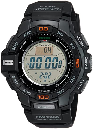 Casio PROTREK Tough Solar Triple Sensor Ver, Negro, Pequeño PRG270 - 1: Casio: Amazon.es: Relojes