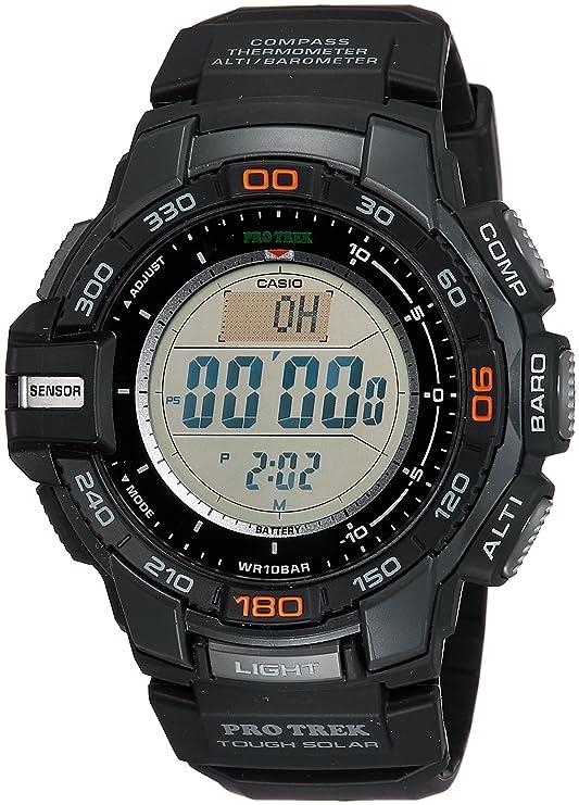 Casio PROTREK Tough Solar Triple Sensor Ver, Negro, Pequeño PRG270 - 1: Casio: Amazon.es: Relojes