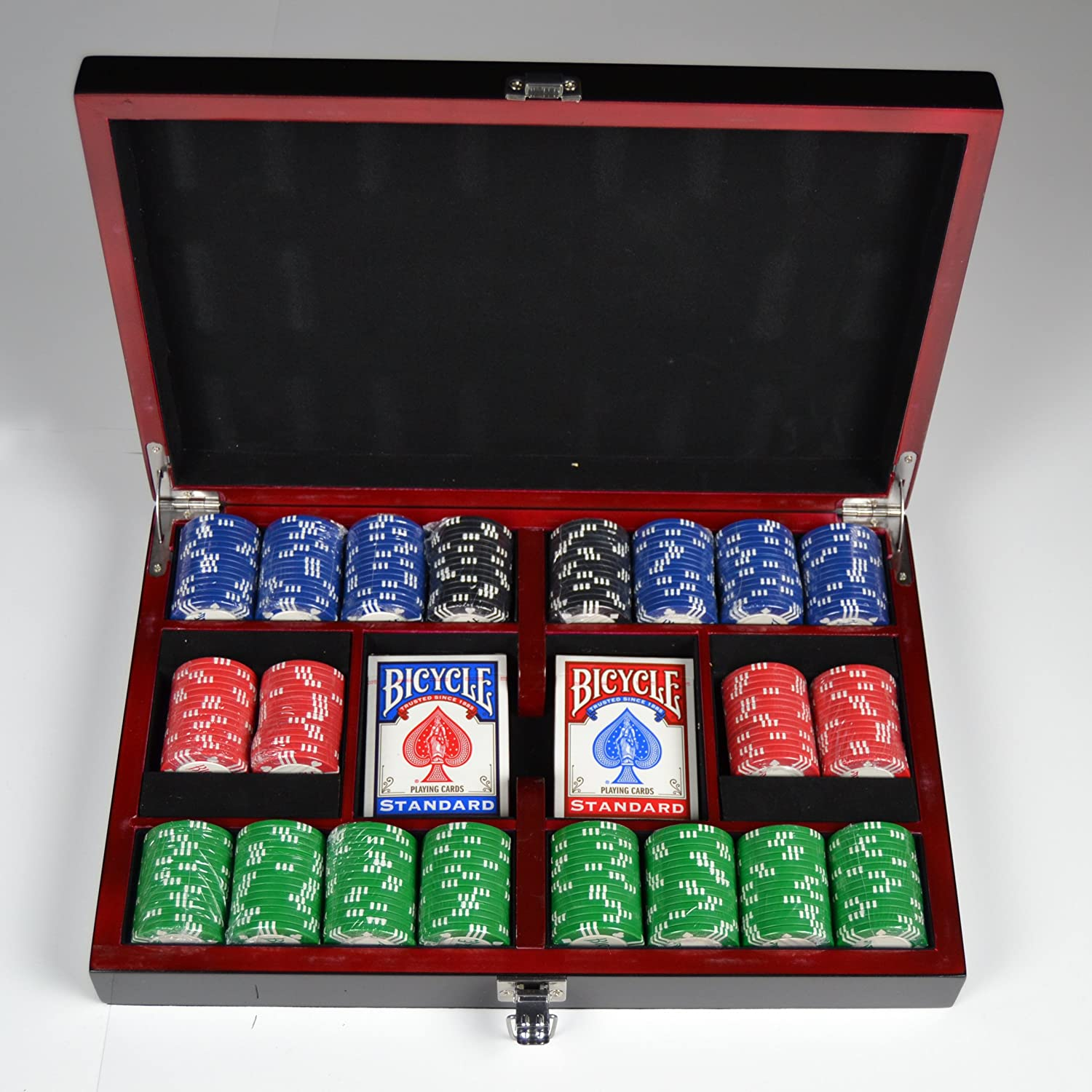 Bicycle poker set roulette valise carpisa