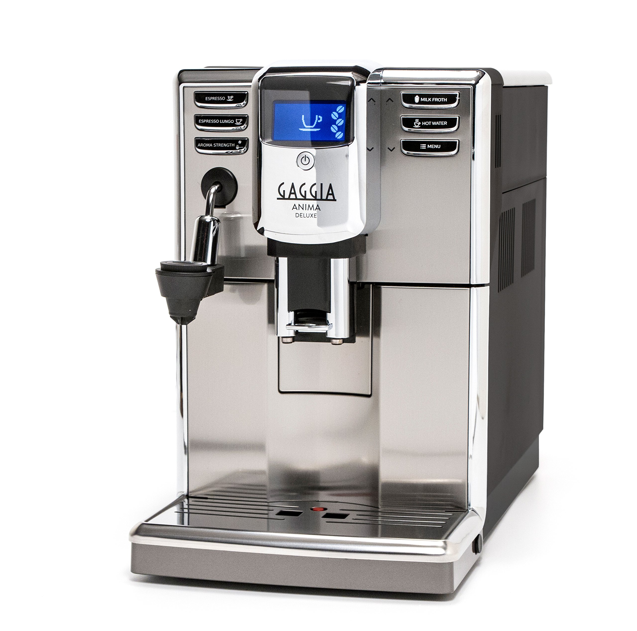Gaggia Anima Deluxe Coffee and Espresso Machine, Includes Auto Frother for Lattes and Cappuccinos with Programmable Options by Gaggia