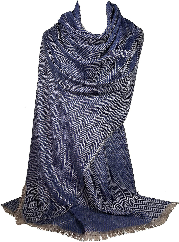 GFM Schal im Pashmina-Stil Chevron oder b/öhmische Muster