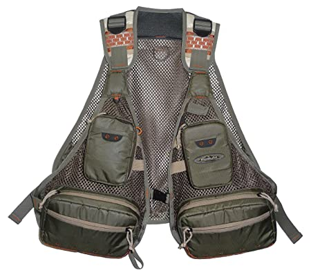 North Star Sports Sandy Point Mesh Deluxe Fishing Vest, Grey