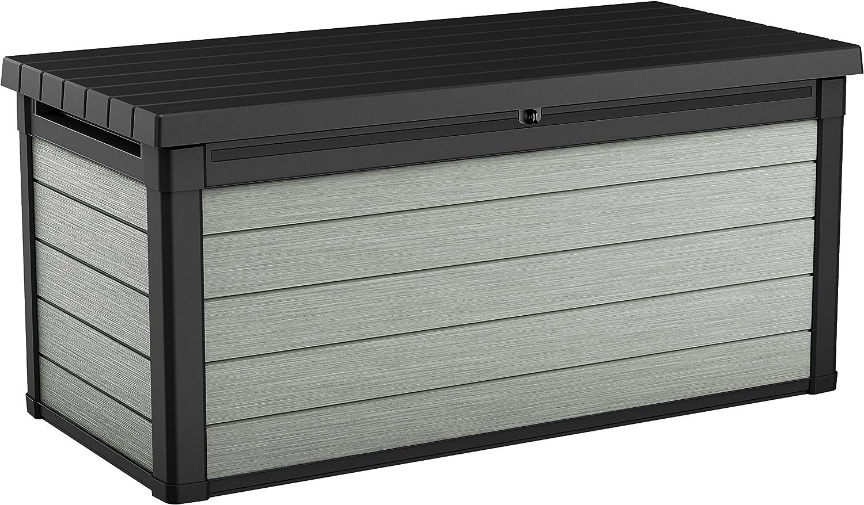 Keter Denali 150 - Arcón Exterior Denali, 570 litros, gris, 151.7 x 72.5 x 70 cm