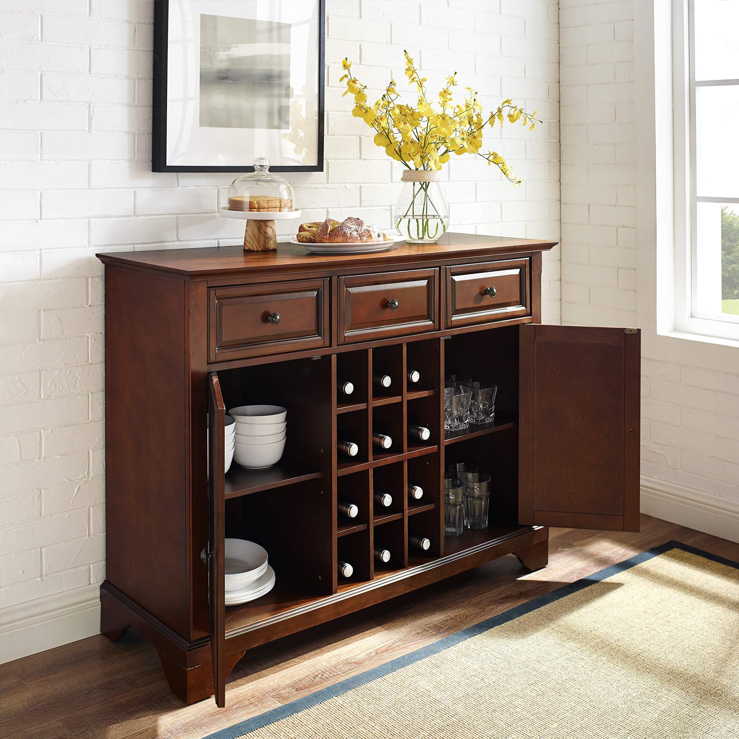 Crosley Furniture LaFayette Wine Buffet / Sideboard - Vintage Mahogany by Crosley Furniture (Image #4)