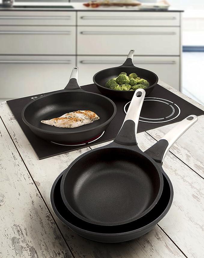 Amazon.com: Fagor Karisma Frying Pan, Aluminium, Black, 20 ...