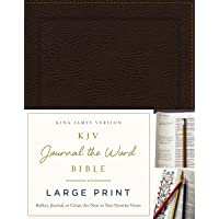 KJV, Journal the Word Bible, Large Print, Bonded Leather, Brown, Red Letter Edition...