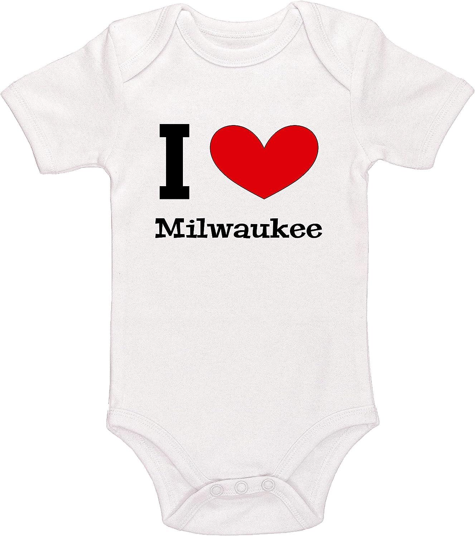 Kinacle I Love Milwaukee Baby Bodysuit