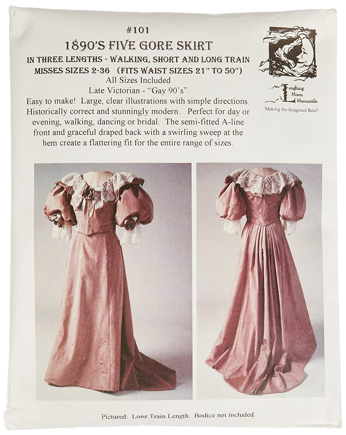 Laughing Moon Mercantile Victorian skirt pattern 1890