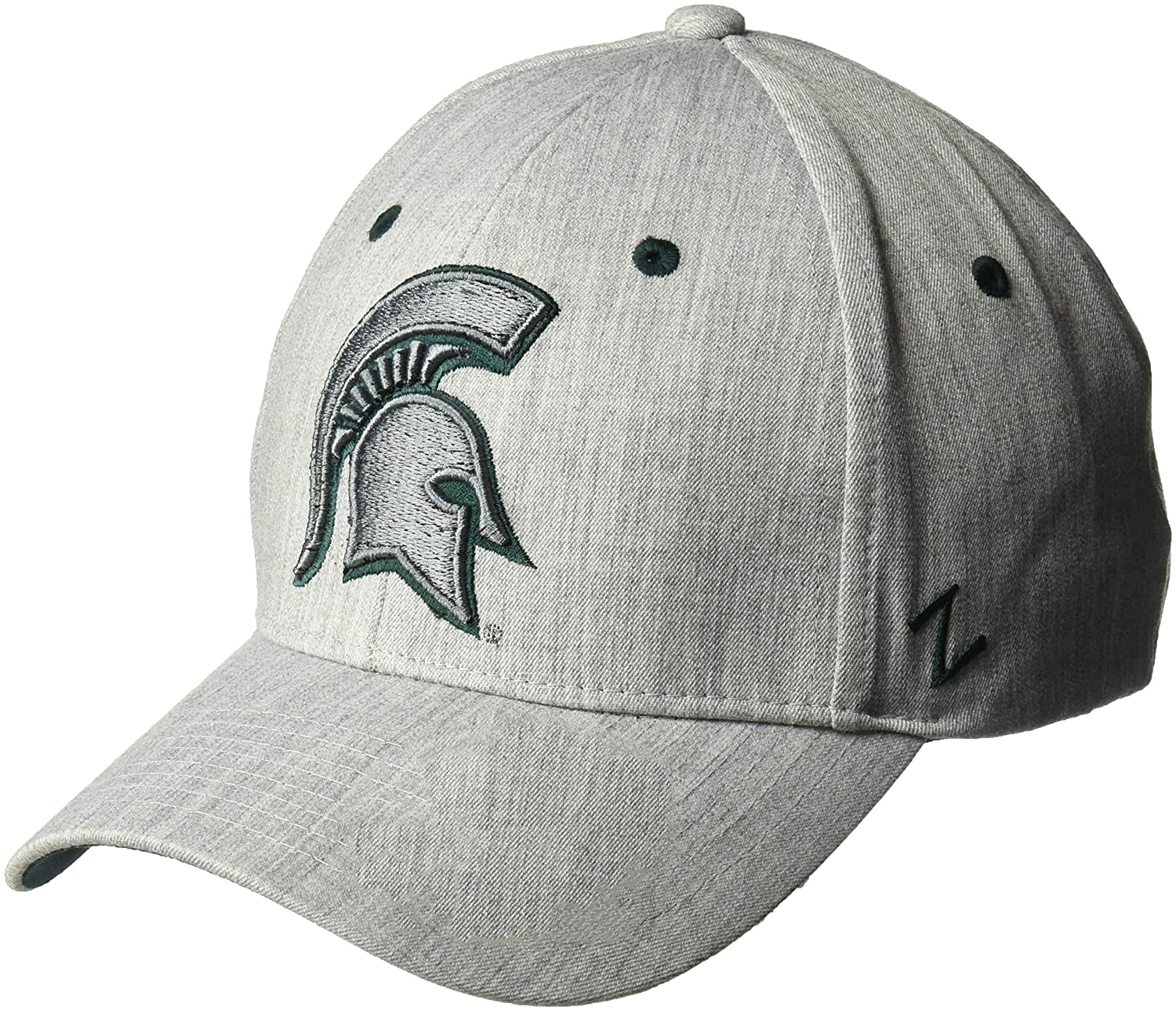 X-Large NCAA Zephyr Michigan State Spartans Mens Tailored Stretch Hat Grey