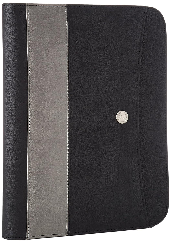 Editions Oberthur 425752.0 Midwest Conférencier format A4 zippé avec anneaux Noir/Gris