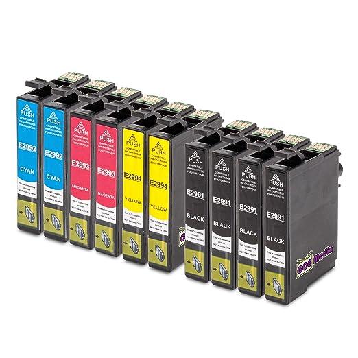 79 opinioni per 10x cartucce compatibili per EPSON T29XL Ink | contenuto: 4x BK (18ml) & 2x