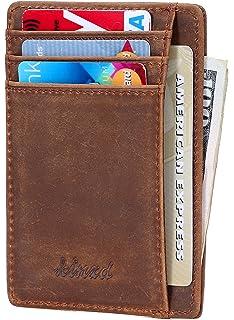 bc8161708769 Anvi Original Leather & Canvas Minimalist Wallet for Men & Women ...