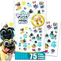 Disney Puppy Dog Pals Tattoos Party Favors Pack ~ Bundle Includes Over 100 Puppy Dog Pals Temporary Tattoos (Puppy Dog…
