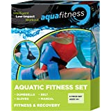 New & Improved AQUA 6 Piece Fitness Set for Water Aerobics, Pool Exercise Equipment, Aquatic Swim Belt, Resistance…