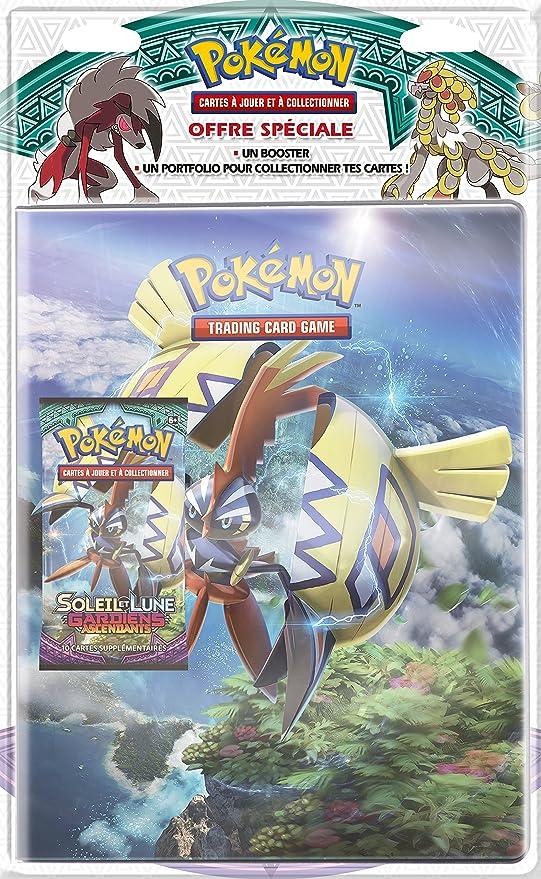 Asmodee pob09sl02 – Pack – Cuaderno correspondencia, + Booster Pokémon sol & luna 2 -