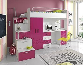 Furnistad Kinderzimmer Komplett Sky Kinder Hochbett Mit Treppe