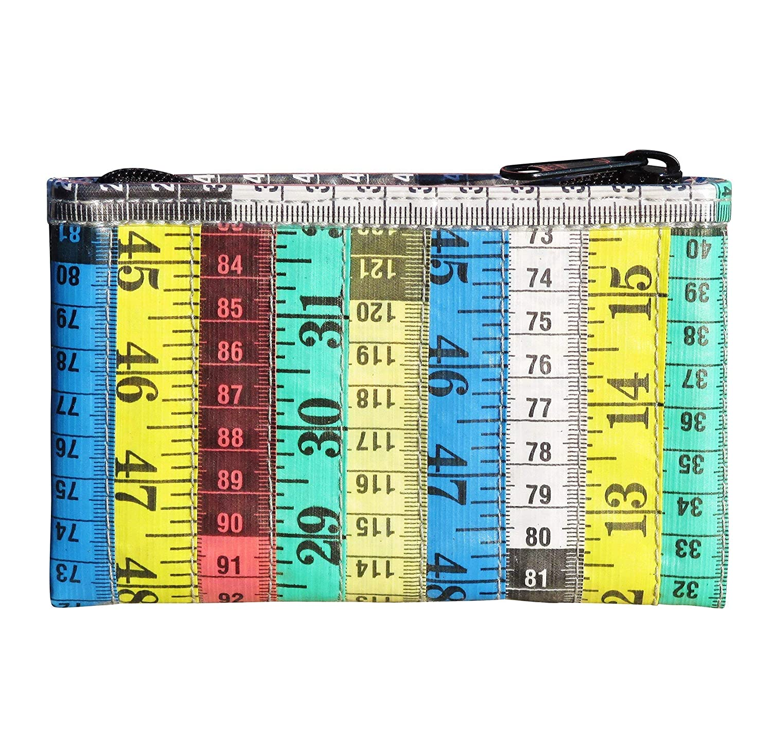 Coin Purse or Wallet created with Upcycled Measuring Tape Tape Measure Coin Pouch in Light Pink