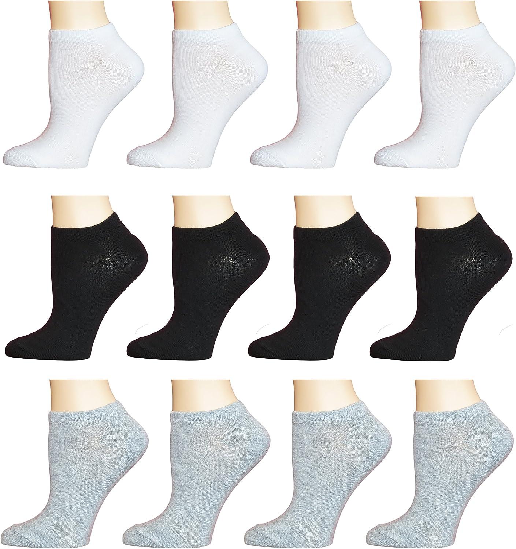 12 pr Women/'s  Active Wear Quarter Socks 6-8 Mixed Colors