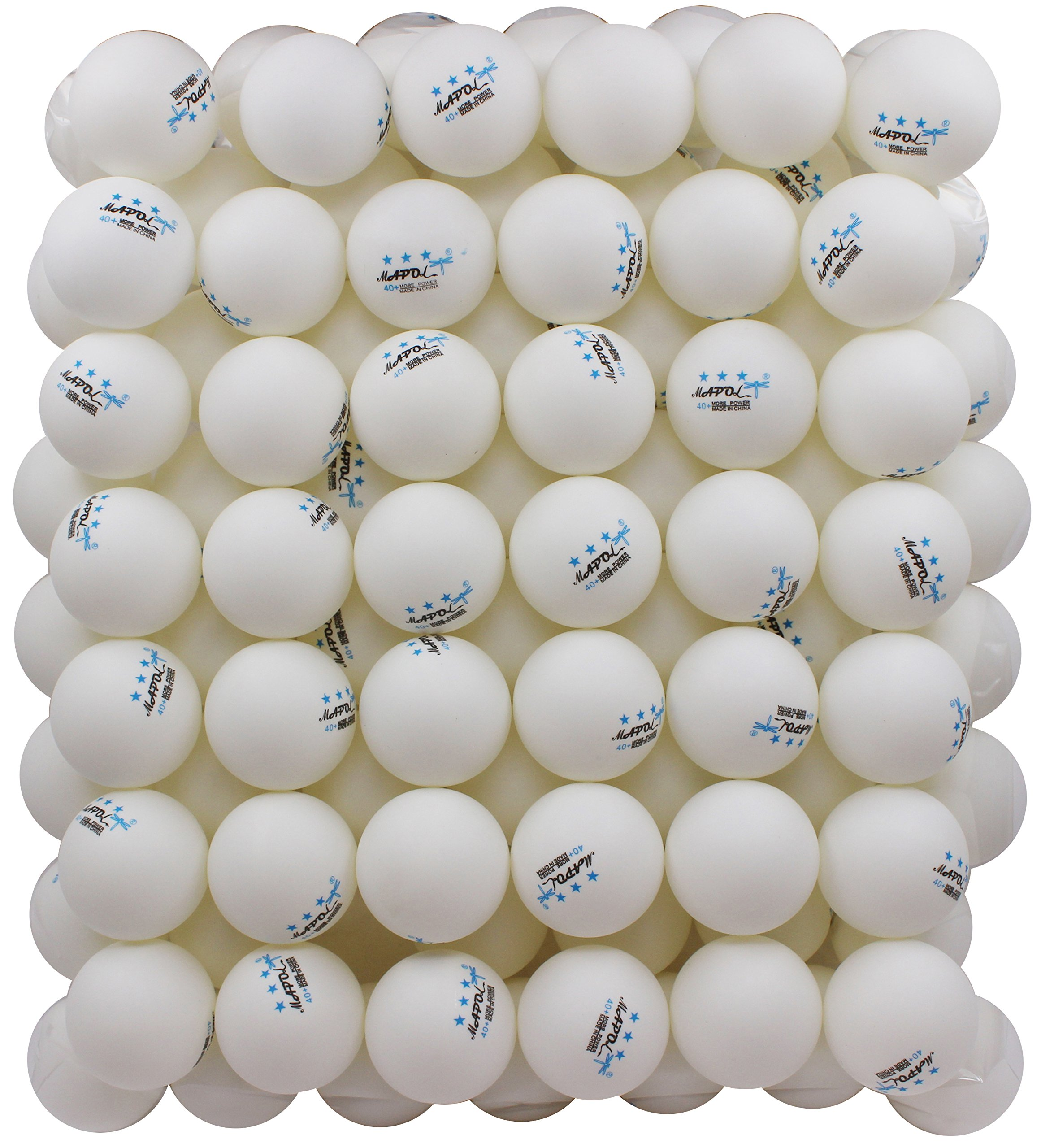100 White 3-star 40mm Table Tennis Balls Advanced Training Ping Pong Ball