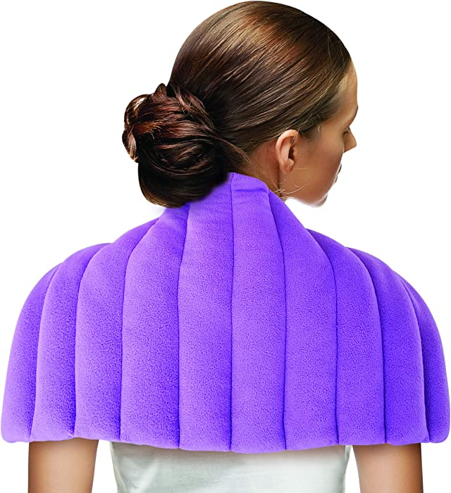 Heating Pad Microwavable Moist Heat Large Weighted Aromatherapy Warm Hot Compress Wrap for Back Pain Relief, Neck and Shoulders, Cramps, Arthritis, and Anxiety with Natural Lavender Scent by TheraCool