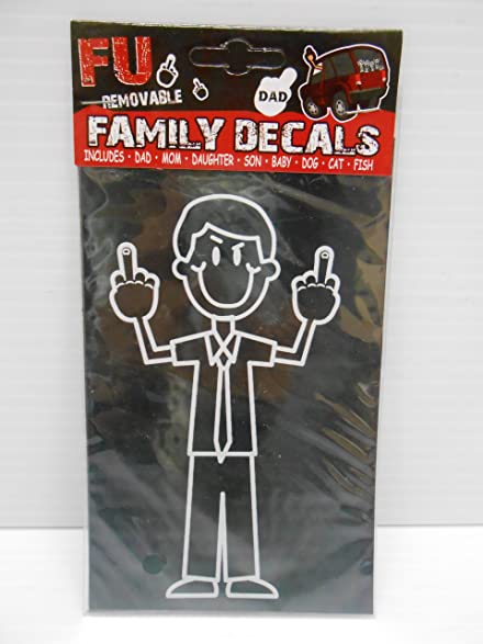 Fu removable dad with finger decal