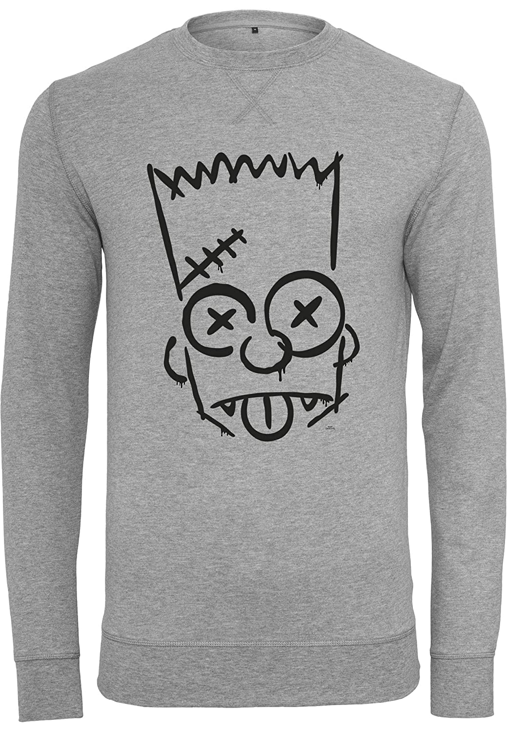MERCHCODE Merch Código Hombre Simpsons graphity – Tabla Crew – Sudadera, Hombre, MC275, H.Grey, Largehttps://amzn.to/2E1oogd