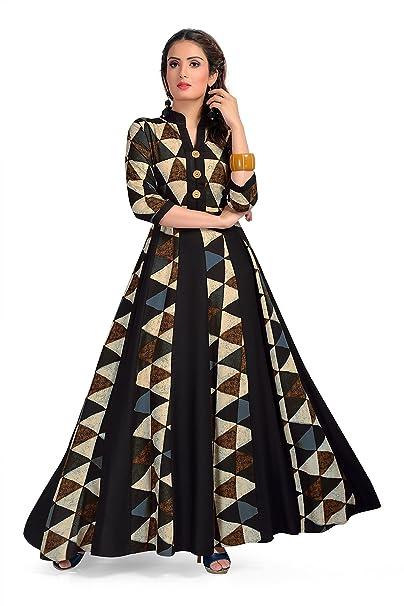 3ec564a69b Madhuram Textiles MT Womens Long Maxi Style Kurti Dress - Indian Anarkali  Design Tops for Girls (M-1029 Grey_Large): Amazon.ca: Clothing & Accessories