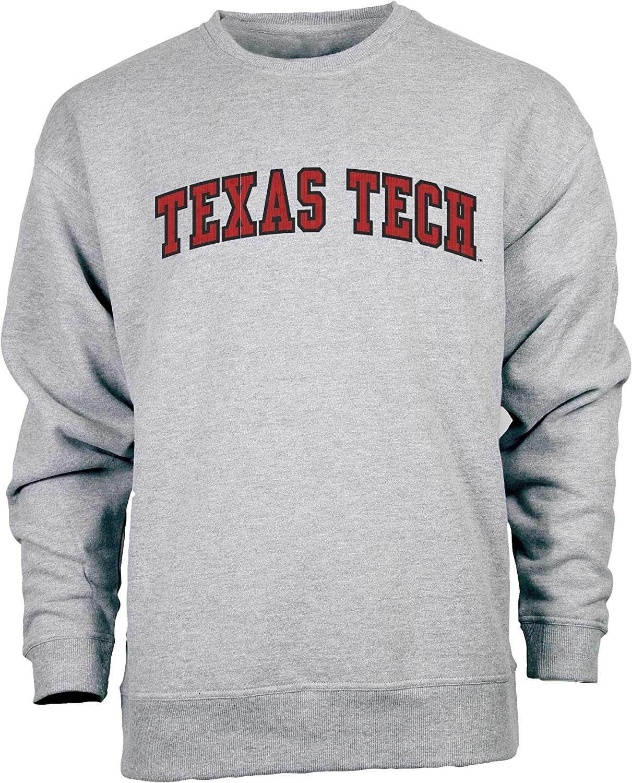 Premium Heather X-Large Ouray Sportswear NCAA Texas Tech Red Raiders Mens Legacy DLX Crew
