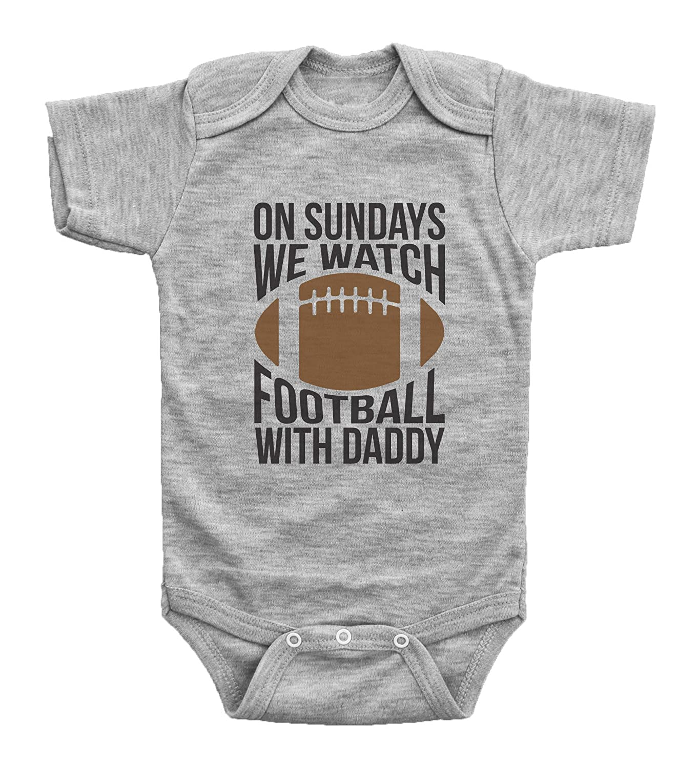 b29a6f0df Amazon.com: Baffle Funny Football Onesies for Babies/ON Sundays, Football  W/Daddy: Clothing