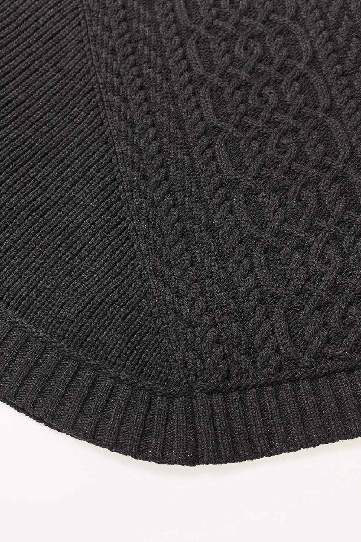 100/% Super Soft Merino Wool Aran Crafts Ribbed Poncho