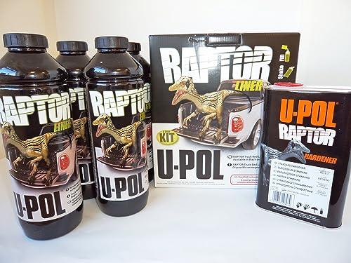 U Pol Raptor Truck Bed Liner Paint 4 Litre Kit Black