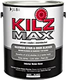 KILZ MAX Maximum Stain and Odor Blocking Interior Latex Primer/Sealer, White, 1-gallon
