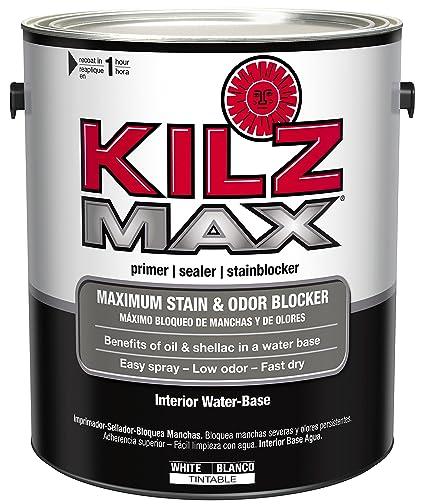 Charmant KILZ MAX Maximum Stain And Odor Blocking Interior Latex Primer/Sealer,  White, 1