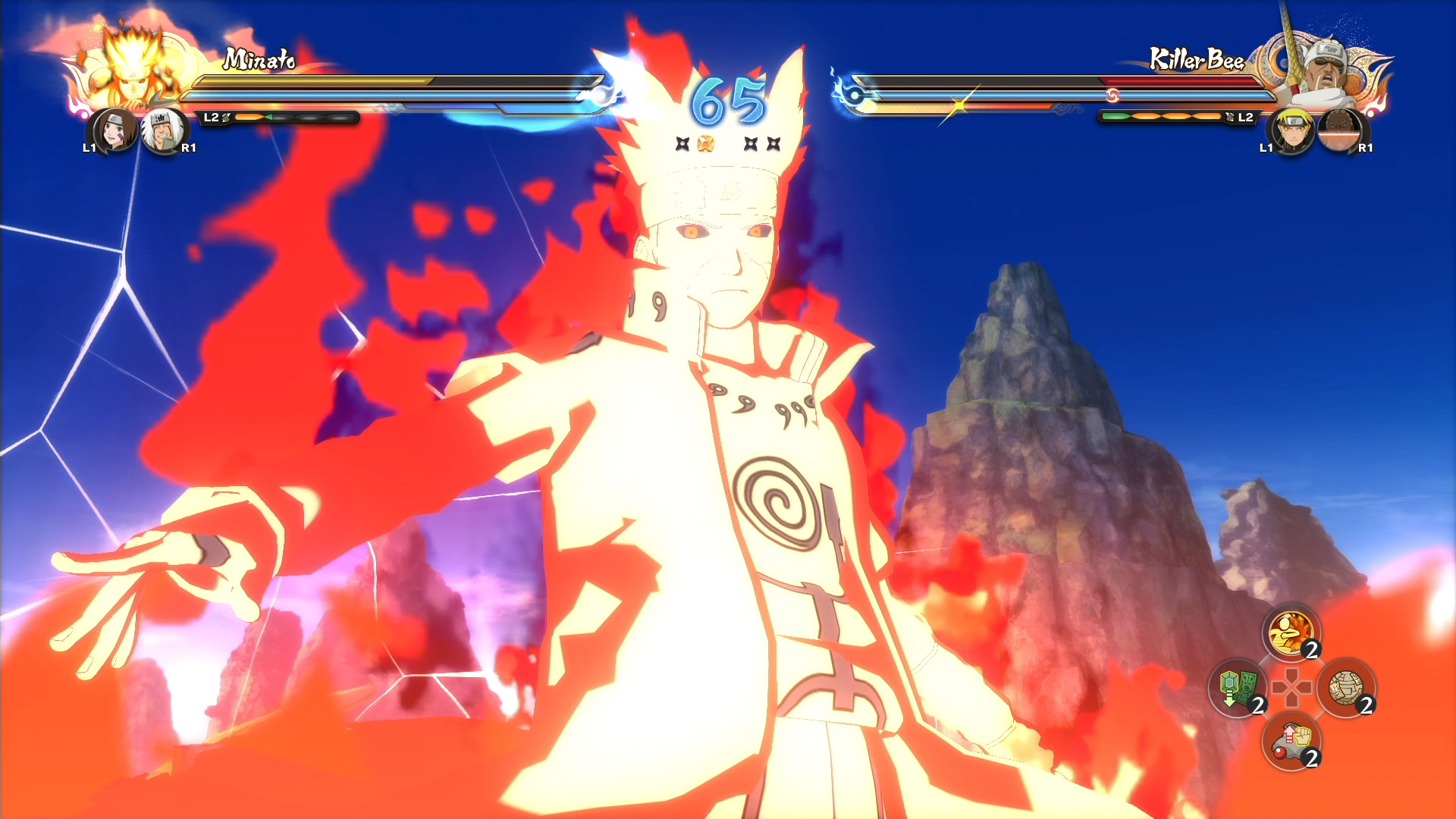 Fourth Hokage, Rin, and Jiraiya Free Battle Gameplay ...