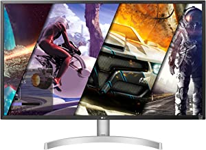 LG 32UL500-W 32 Inch UHD (3840 x 2160) VA Display with AMD FreeSync, DCI-P3 95% Color Gamut and HDR 10 Compatibility, Silver/White