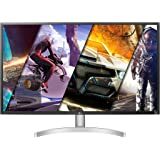 LG 32UL500-W 32 Inch UHD (3840 x 2160) VA Display with AMD FreeSync, DCI-P3 95% Color Gamut and HDR 10 Compatibility, Silver/