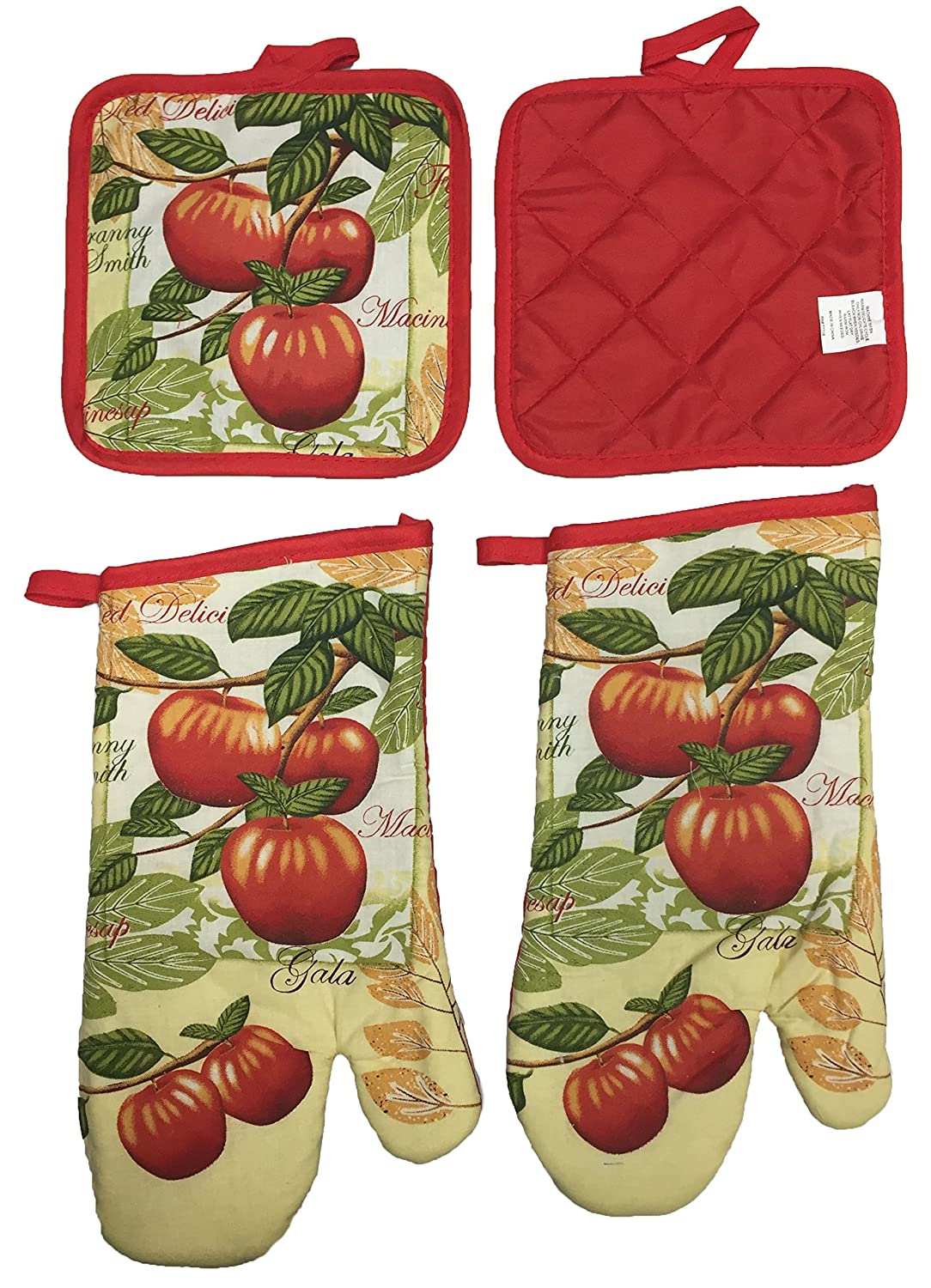 Set of 4 Gala Apple Collection Decorative Kitchen Set