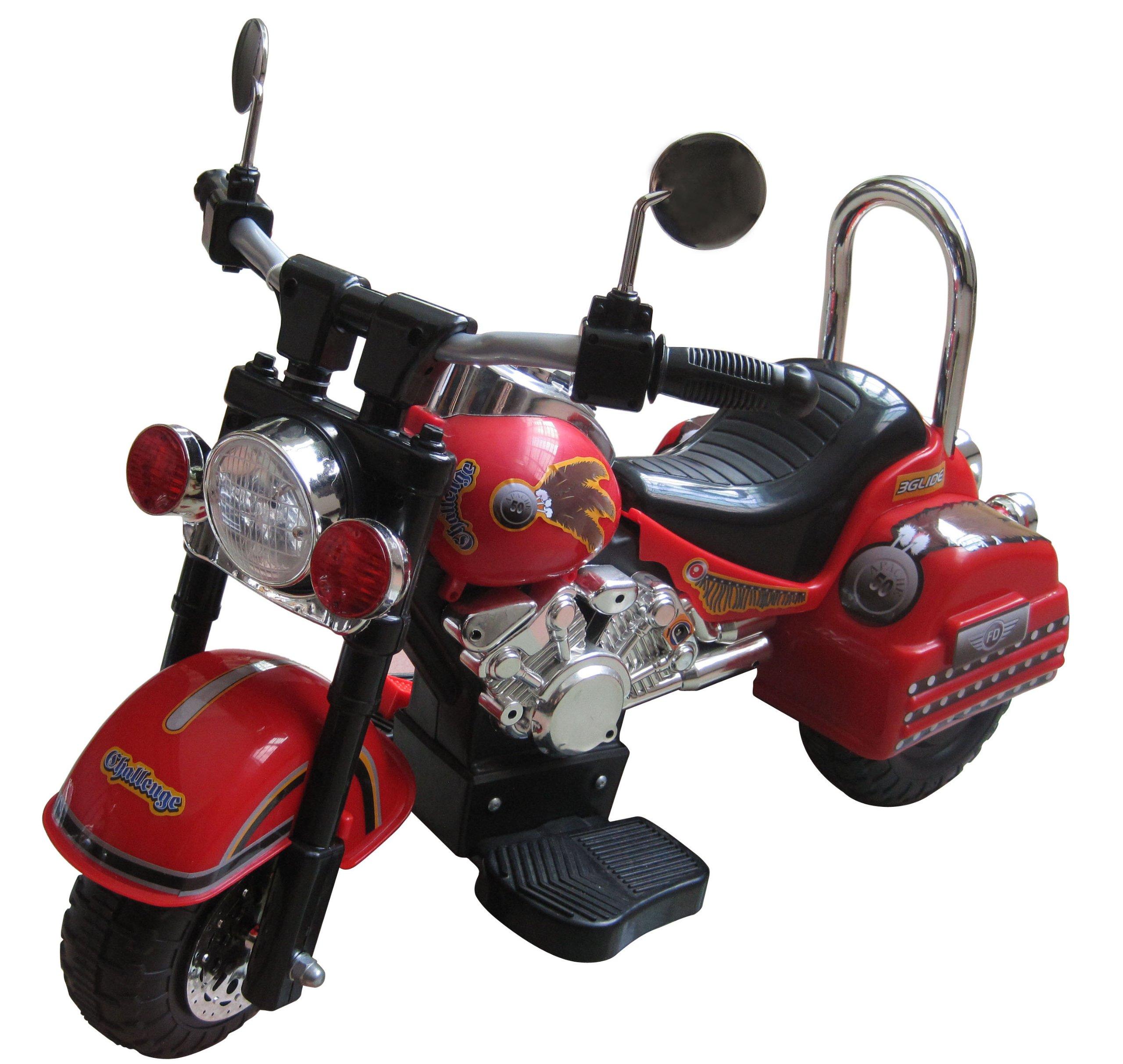 Merske Harley Style 6V Battery Operated Kids Motorcycle, Red by Merske