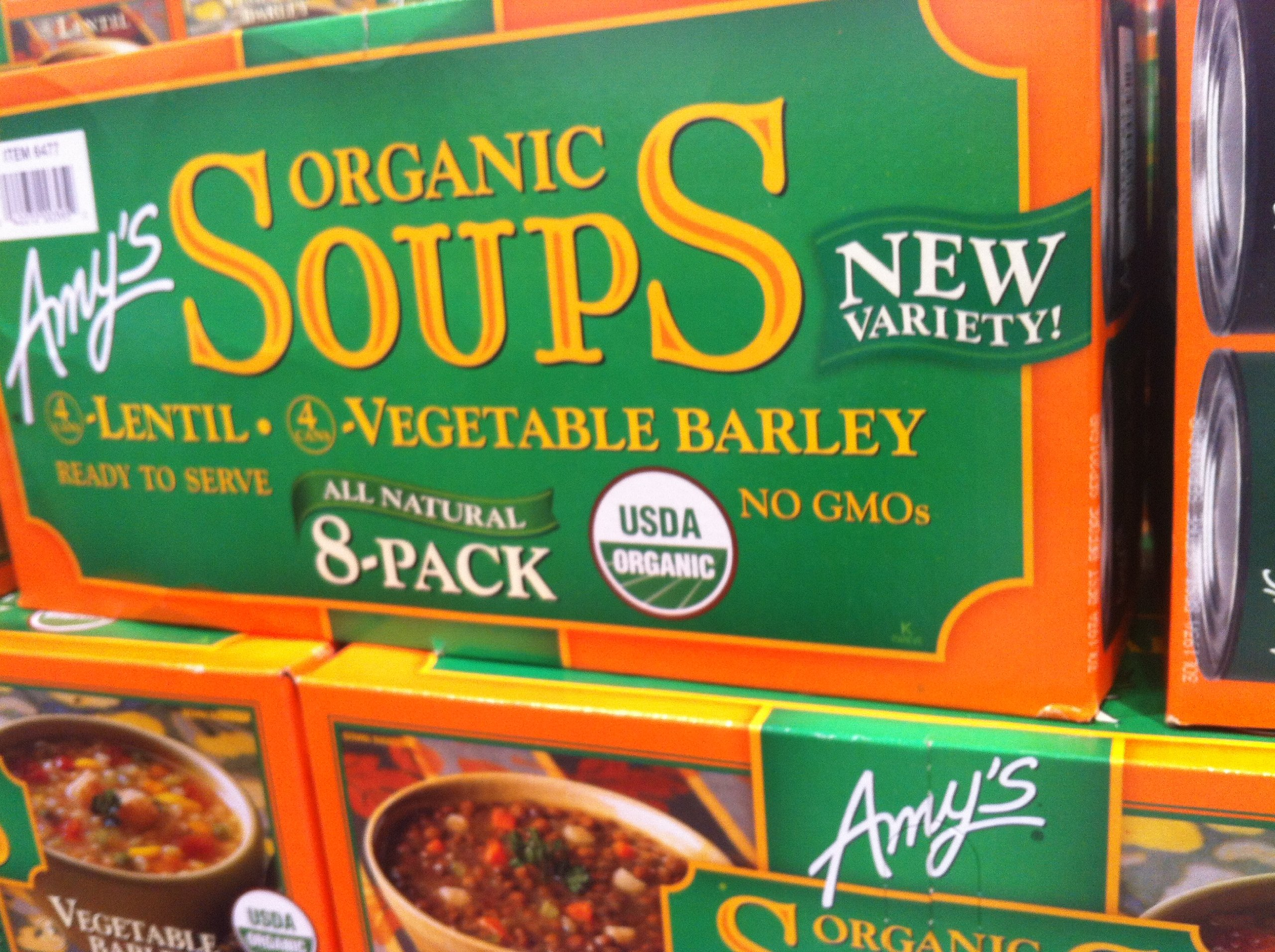 Amy's Variety Pack Lentils & Vegetable Barely USDA Organic Soup - 8 Pack - 14 Oz. Each. Gluten Free