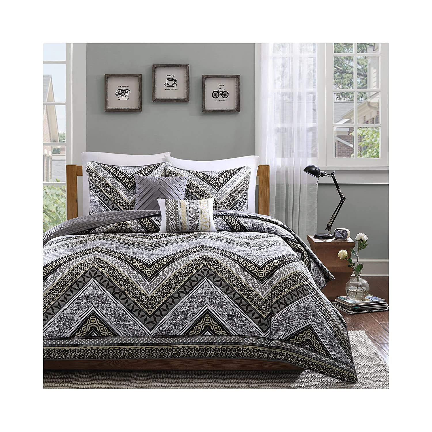 Intelligent Design Talula 4 Piece Coverlet Set, Taupe, Twin/Twin X-Large