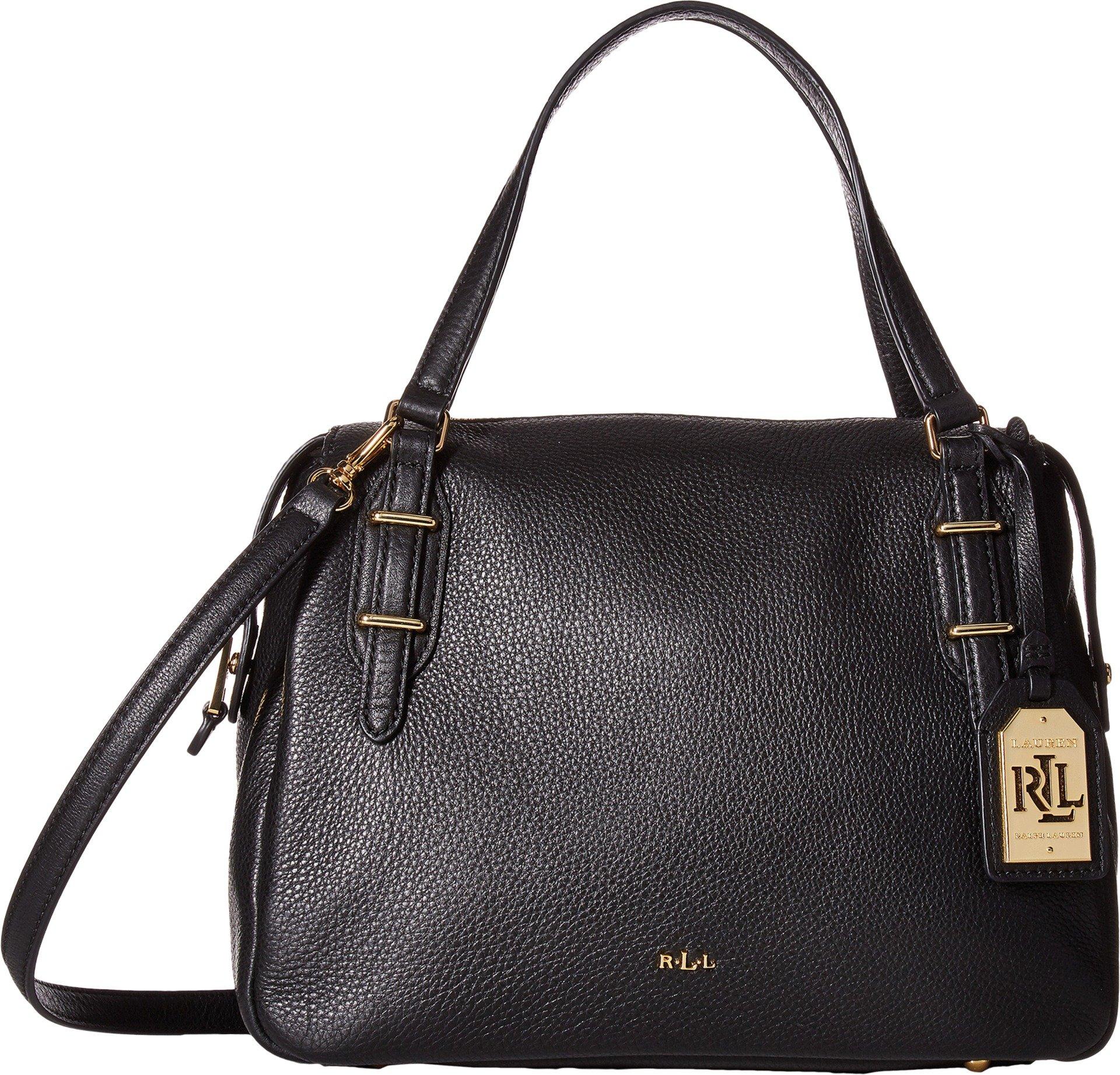 LAUREN Ralph Lauren Women's Easby Eileen Satchel Medium Black One Size