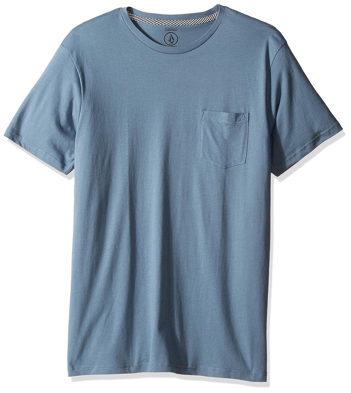 (ボルコム) VOLCOM メンズ 無地 半袖 Tシャツ (モダンFIT 採用) ポケット付き ポケT 【 A5011611/Solid Pocket SS Tee 】 B01LYD9ZNU  Ash Blue XL