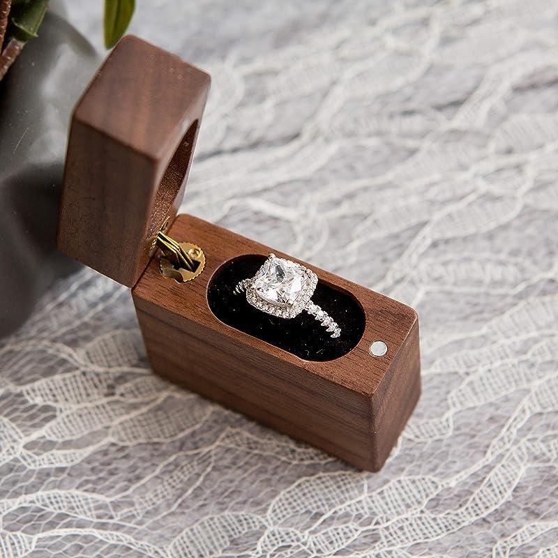 Wooden resin mountain ring box.proposal ring box.engagement ring box.Wood ring box.engagement ring box resin ring box.wood resin ring box